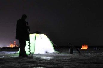 Зимняя ловля леща ночью